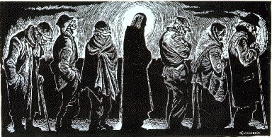 """Christ of the Bread Line"" by Fritz Eichenberg"