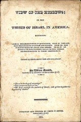 "Title page for the 1825 edition of ""View of The Hebrews"" by Ethan Smith"