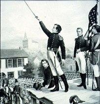 General Joseph Smith addressing the Nauvoo Legion.