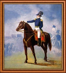 General Joseph Smith reviewing the Nauvoo Legion - which was larger than the Illinois State Militia.