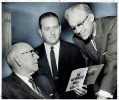 LeGrand RIchards, left, Thomas S. Monson, center, and David Lawrence McKay, right in 1968