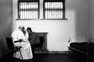 Pope John Paul forgiving his assassin