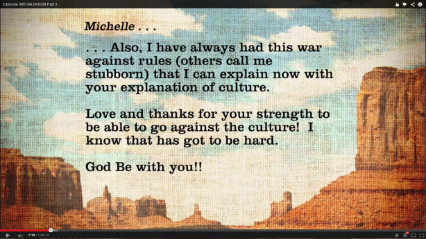 The email from Michelle read on the May 20, 2014 Heart of the Matter broadcast
