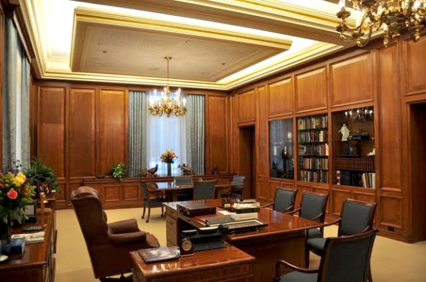 LDS Church President Thomas S. Monson's office in the Church Office Building.