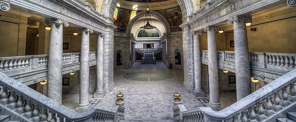 Inside the Utah State Capitol building