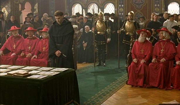 Martin Luther at the Diet of Worms (scene from the 2003 movie