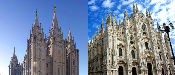 SLC Temple and Milan Cathedral