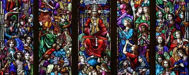 """""""Communion of Saints"""" (stained glass window)"""