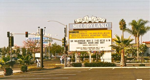 The Melodyland Christian Center (Anaheim, CA) Marque from the late 1970's.