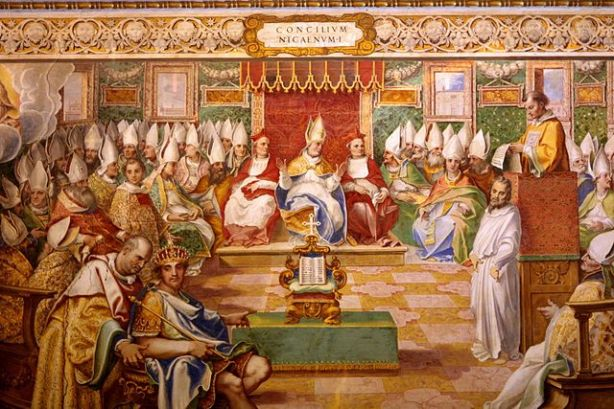 16th Century Fresco in the Sistine Chapel depicting the First Council of Nicea.