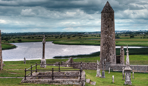 Clonmacnoise, the burial place of the last High King of Ireland