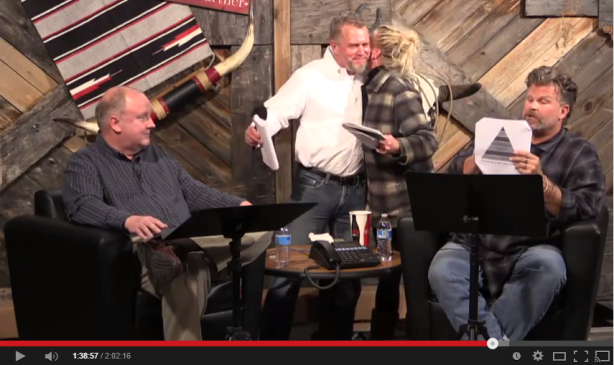 Mark Prizant, the moderator (who is supposed to maintain neutral during debate proceedings) gives a supportive hug to Shawn McCraney's wife immediately after she had ripped into Jason Wallace during the February 3, 2015 debate