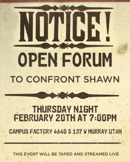 "The invitation for the February 21, 2014 ""Open Forum"" event at CAMPUS"