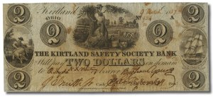 A Two Dollar Bill from Joseph Smith's Kirtland Safety Society Anti-Bank