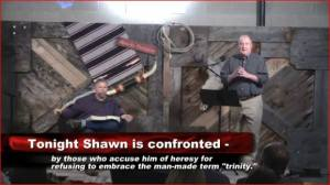 Shawn McCraney and Utah Pastor, Jason Wallace at Inquisition 2014.