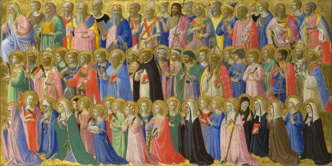 "Fra Angelico, ""The Forerunners of Christ with Saints and Martyrs"" (circa 1423-24)"