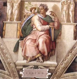 Michelangelo Buonarroti's Isaiah from the Sistine Chapel