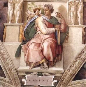 Michelangelo Buonarroti's Isaiah from the Sistine Chapel