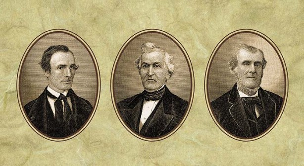 """The """"three witnesses"""" to the Book of Mormon: Oliver Cowdrey, David Whitmer, and Martin Harris"""