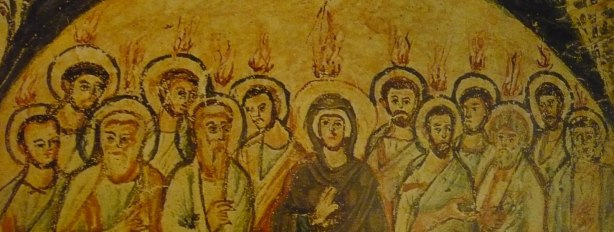Catacomb painting of Pentecost.