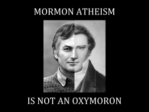 Mormon Atheism is Not an Oxymoron