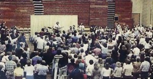 Calvary Chapel Yorba Linda (CA) in the late 1970's. This congregation later left Calvary Chapel and became the first Vineyard Church.