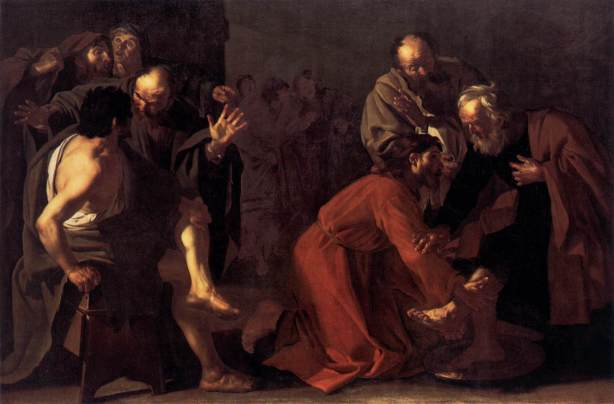 "Dirck van Baburen, ""Christ Washing the Apostles Feet"" (c.1616)"
