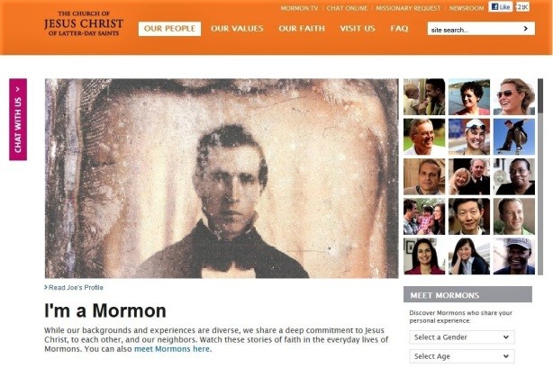 "A playful take on the ""I'm A Mormon"" website that introduced in 2011 and taken down in 2018."