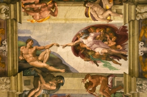 Michelangelo's Creation of Adam from the Sistine Chapel