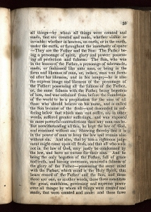 The Lectures on Faith, which was a canonized part of D&C from 1835-1921 agreed with the Book of Mormon that God is a spirit (from the fifth Lecture on Faith, page 53.) Click on image to zoom and read.