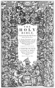 The title page of a 1611 KJV Bible