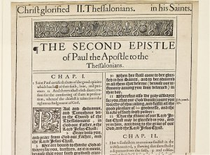 2 Thessalonians from a 1611 KJV Bible. Can you read this?  (click to zoom)