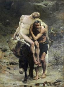 """""""Le bon Samaritain"""" by Aimé Morot (French, 1850-1913)"""